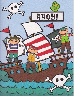 Happy Birthday - Pirate Ship