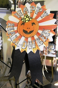 Pleated Paper Halloween Rosette