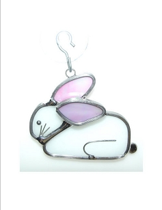 Stained Glass Ornament - Mini Rabbit