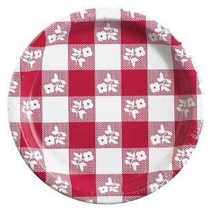 Red Gingham 6 7/8
