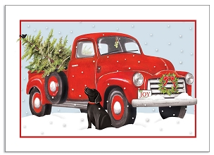 Red Truck Christmas Boxed Cards