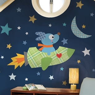 Rocket Dog Giant Wall Decals
