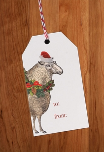 Santa Sheep Gift Tags