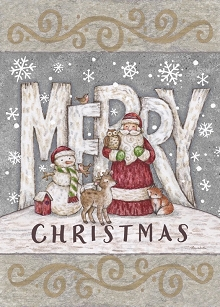 Merry Christmas Santa &  Snowman Boxed Cards