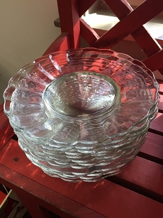Vintage Scalloped Glass Plates