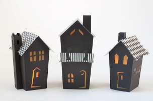 Black Vintage Pop Up Houses