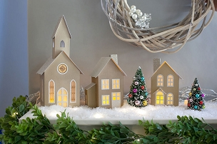 Rustic Gold Pop-Up Holiday Village