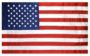 Nylon Sleeved American Flag - 3' x 5'