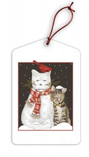 Snow Kitties Holiday Gift Tags