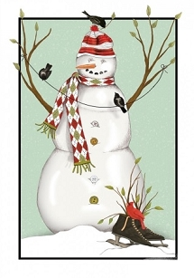 Snowman w/ Birds Boxed Cards