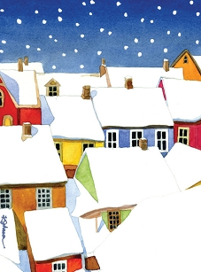 Snowy Village Boxed Cards