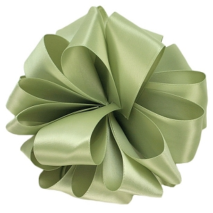 Spring Moss Double Face Satin Ribbon