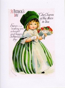 St. Patrick's Day Girl Greeting Card
