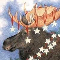 Starry Moose-Christmas Gift Enclosures