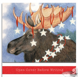 Matchbook Notepad - Starry Moose