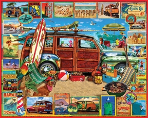 Surfin Woody 1000  Pc. Jigsaw Puzzle