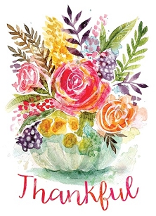 Thankful Watercolor Greeting Card