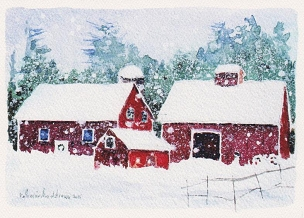 Christmas Three Barns Boxed Cards