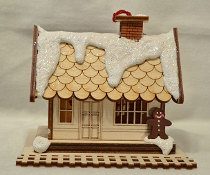Ginger Cottage Ornament-Train Depot