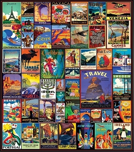 Travel The World  550  Pc. Jigsaw Puzzle