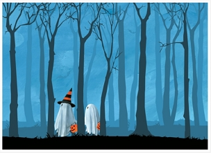 Trick or Trees Greeting Card