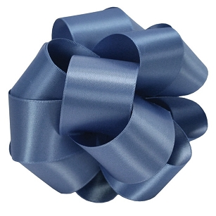 True Blue Double Face Satin Ribbon