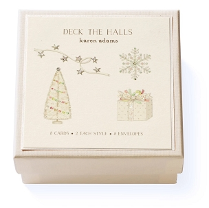 Deck The Halls Boxed Gift Enclosures
