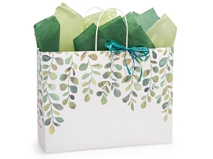 Watercolor Greenery Gift Bag - Vogue