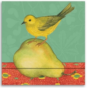 Matchbook Notebook - Warbler & Pear
