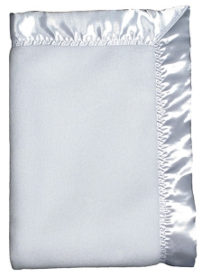 White Fleece Baby Blanket