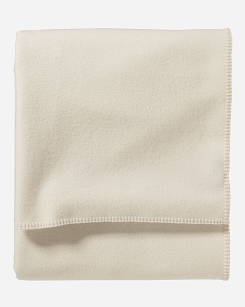 Pendleton Eco-Wise Wool Twin Blanket - White
