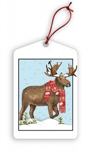 Winter Moose Holiday Gift Tags
