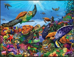 Amazing Sea Turtles Puzzle 300  Pc. Jigsaw Puzzle