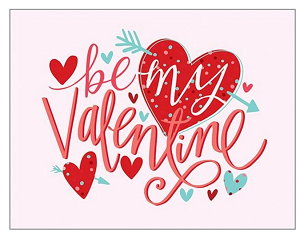 Valentine Arrow Heart Card