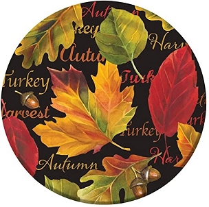 Autumn Expressions Paper Plate