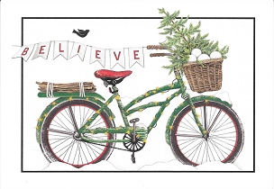 Believe Bike Holiday Boxed Cards