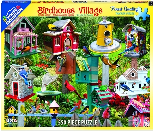 Birdhouse Village 550 Pc
