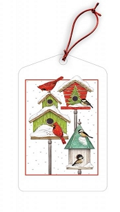 Birdhouses Holiday Gift Tags