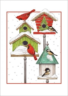 Birdhouses Holiday Boxed Cards