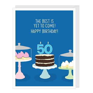 Number 50 Birthday Card