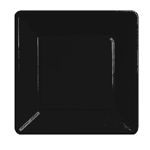 Black Square Lunch Paper Plate