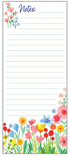 BRIGHT FLOWER GARDEN MAGNETIC LIST PAD