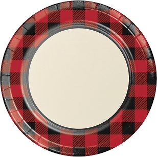 Buffalo Plaid Paper Plate 8.75