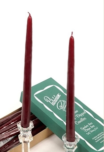 Burgandy Taper Candles