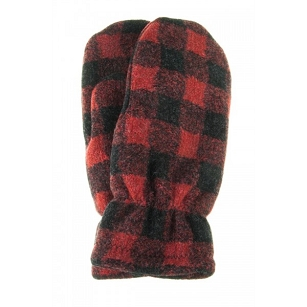 Buffalo Plaid Mittens - Child