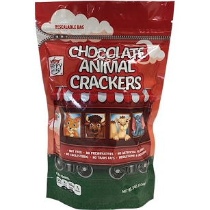 8 oz. Bag Chocolate Animal Crackers