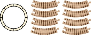 Wood Train Track Set - Circle