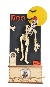 Day of the Dead Dancing Skeleton Music Box