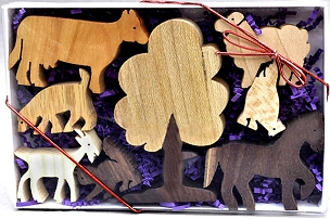 Farm Animals Wood Play Set