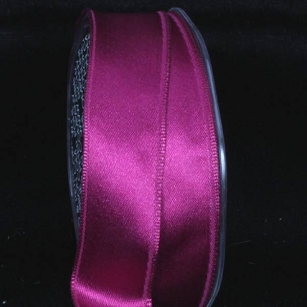 Festive Fuchsia Double Face Satin Ribbon